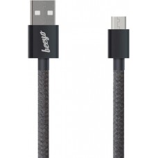 Beeyo Twine micro-USB cable black 1m