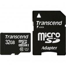 Transcend microSDHC 32GB Class 10 + SD-Adapter