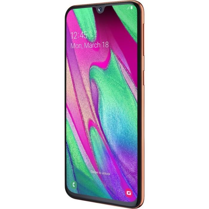 Samsung Galaxy A40 Dual SIM 4GB/64GB CORAL EU + ΔΩΡΟ ΘΗΚΗ ΣΙΛΙΚΟΝΗΣ