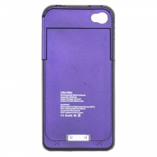 OEM Power Bank - Θήκη 1900mAh Για Αpple Iphone 4G/4S Μωβ