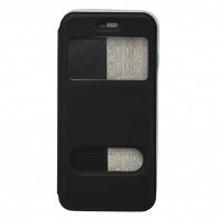 OEM Θήκη Βιβλίο Smart Magnet Με Παράθυρα Για Apple Iphone 6G/6S Μαύρη