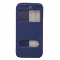 OEM Θήκη Βιβλίο Smart Magnet Με Παράθυρα Για Apple Iphone 6G/6S Μπλε