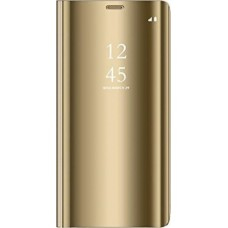 Clear View Book Χρυσό (Xiaomi Redmi Note 7)