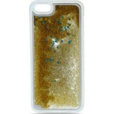 OEM TPU Liquid Glitter iPhone 6/6s Gold