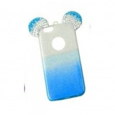 OEM Back Cover Σιλικόνης Glitter Ears As Mickey Μπλε S7 edge