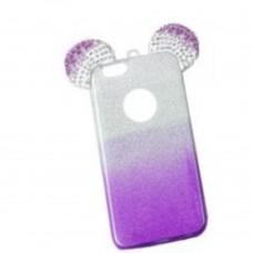 OEM Back Cover Σιλικόνης Glitter Ears As Mickey Μωβ Για Samsung Galaxy  S7